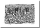 Aerial view of Los Angeles Skyline - Originals for sale