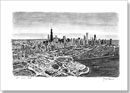 Aerial view of Chicago - Originals for sale