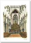 Interior of St Mary of the Angels Church in Notting Hill - Originals for sale