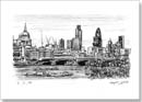 View of London from Waterloo Bridge - Originals for sale