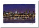 St Pauls and London Skyline at night - Originals for sale