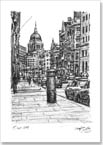 St Pauls from Fleet Street - Originals for sale