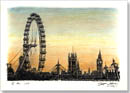London Eye and Houses of Parliament - Originals for sale