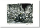 London Taxi Cab at Haymarket at night - Originals for sale
