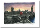 Houses of Parliament in the evening - Limited Edition of 100 - Prints for sale