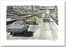 5 Big Chevy cars on the New York freeway - Originals for sale