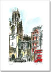 St Dunstans Church on Fleet Street, London - Originals for sale