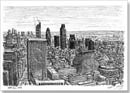 View from the top of Cromwell Tower, Barbican - Originals for sale