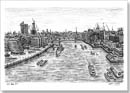 View of London from the turrets of Tower Bridge - Originals for sale