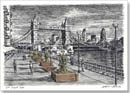 River Thames with Tower Bridge - Originals for sale
