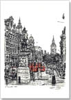 View of Whitehall from Trafalgar square - Originals for sale