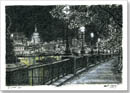 St Pauls and London skyline from Southbank at night - Originals for sale
