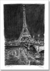 Eiffel Tower at night (Paris) - Originals for sale