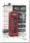 Telephone Box near the Royal Opera Arcade - Originals for sale