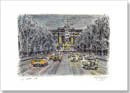 Snow scene at the Mall - Originals for sale