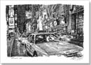 New York taxis at Times Square - Originals for sale