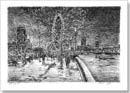 Winter scene at the Southbank - Originals for sale