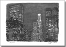 Los Angeles at night - Originals for sale