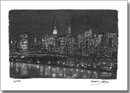 Manhattan Skyline at night - Originals for sale
