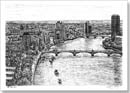 Aerial view of River Thames - Originals for sale