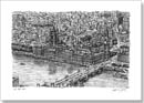 Aerial view of Houses of Parliament (London) - Originals for sale