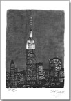 Empire State Building at night, NY - Originals for sale