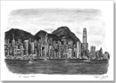 Hong Kong Skyline - Originals for sale