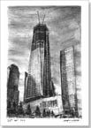 Freedom Tower in construction  - Originals for sale