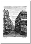 London Taxi and Bus at Haymarket - Originals for sale