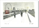 Snow Scene at Westminster Bridge  - Originals for sale