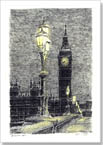 Big Ben on a winter evening - Drawings - Gallery