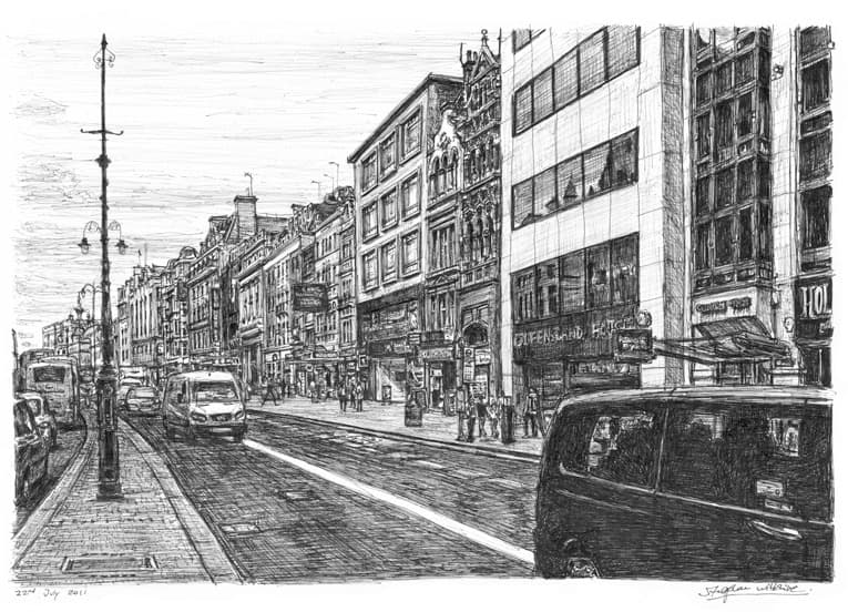 Theatreland at the Strand, London - originals and prints by Stephen Wiltshire MBE