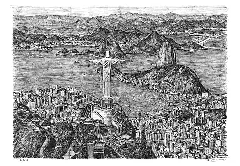 Rio de Janeiro - drawings and paintings by Stephen Wiltshire MBE