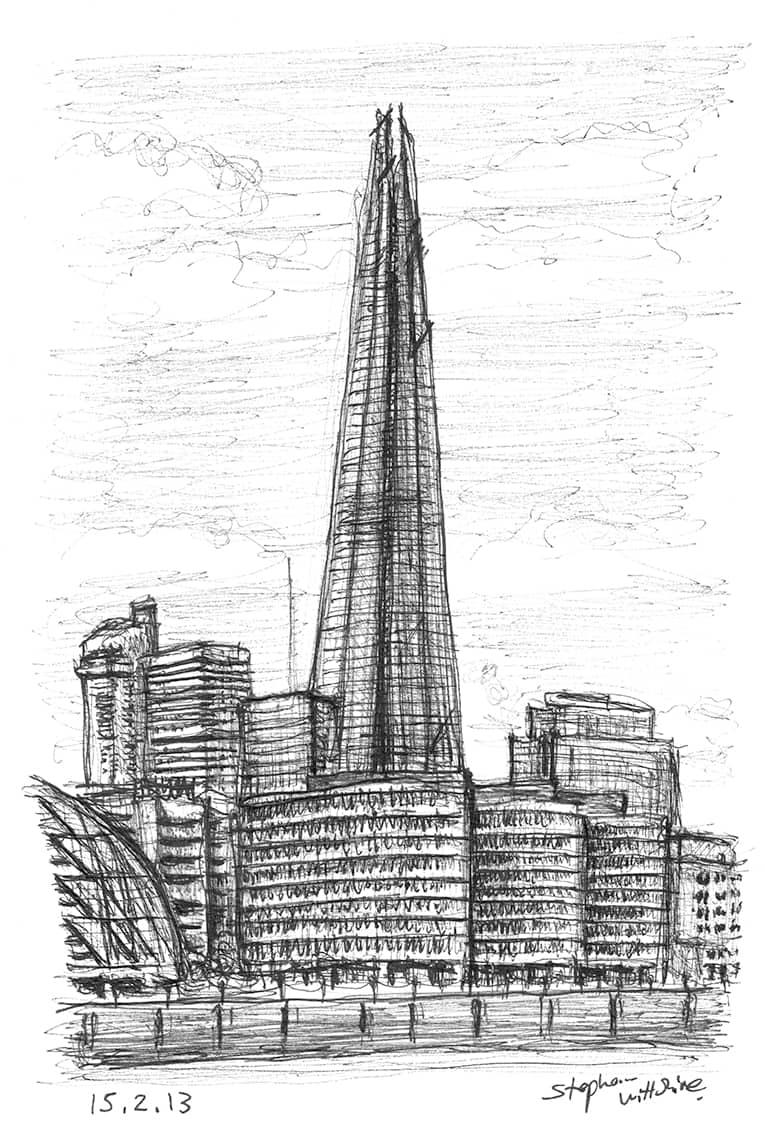 The Shard, London Bridge - originals and prints by Stephen Wiltshire MBE
