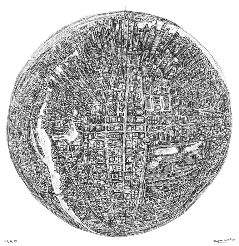 Globe of Imagination - original drawings and prints by Stephen Wiltshire