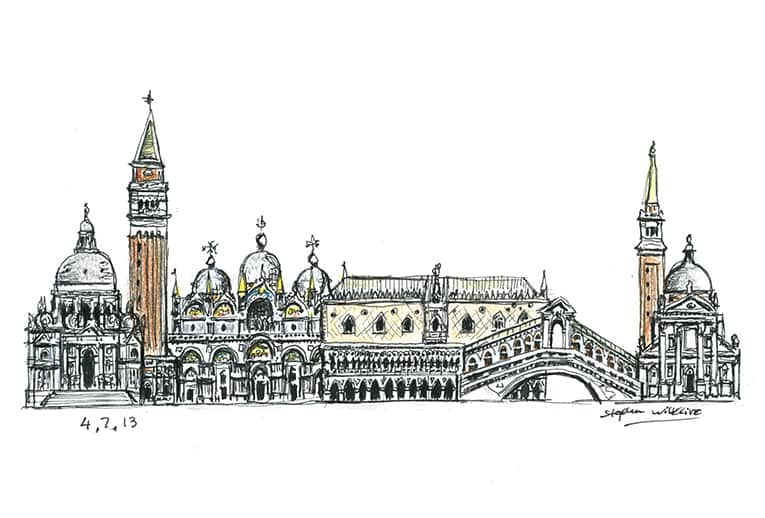 Venice montage - Original Drawings and Prints for Sale