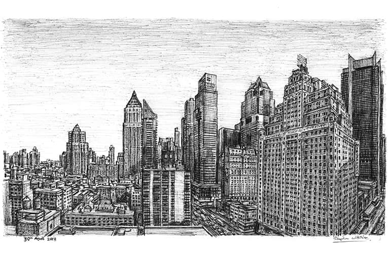 Drawing of Manhattan