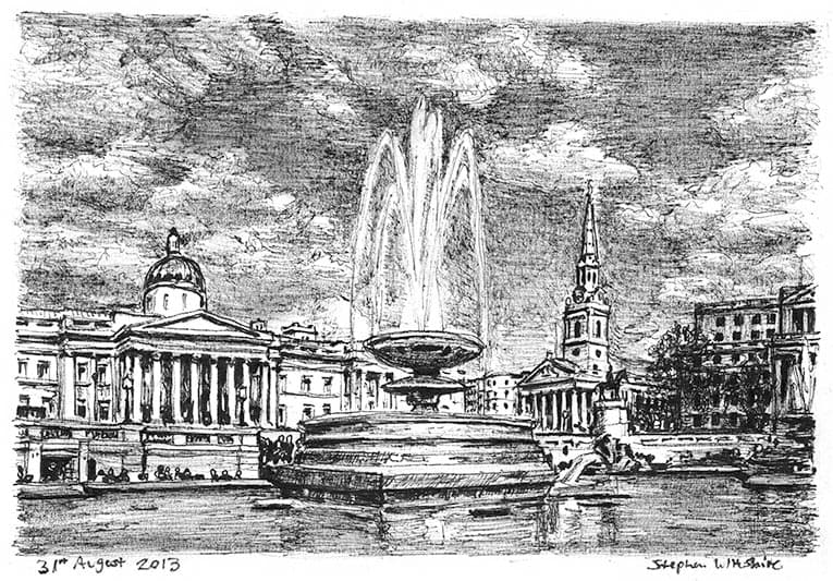 Trafalgar Square - original drawings and prints by Stephen Wiltshire