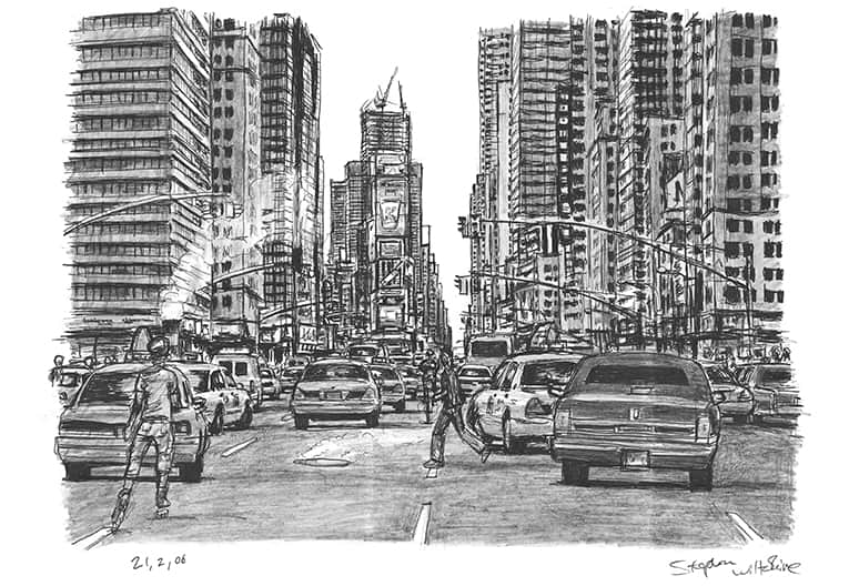 New York City, rush hour - originals and prints by Stephen Wiltshire MBE