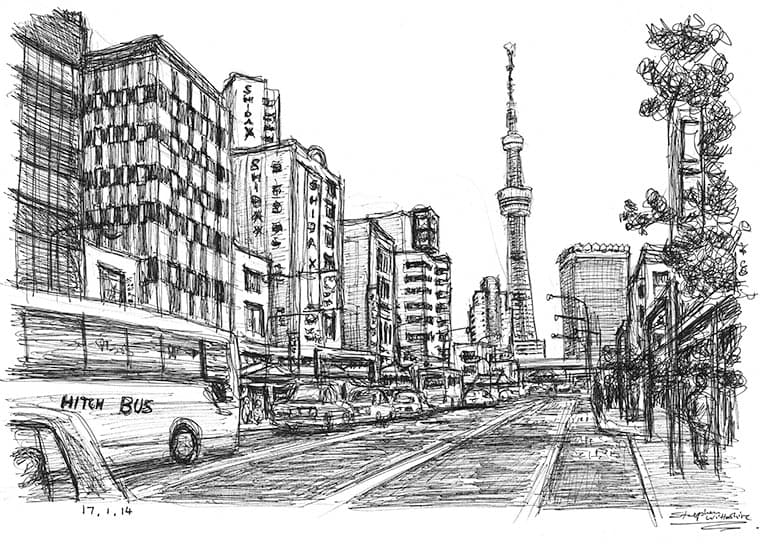 Tokyo ItteQ - originals and prints by Stephen Wiltshire MBE