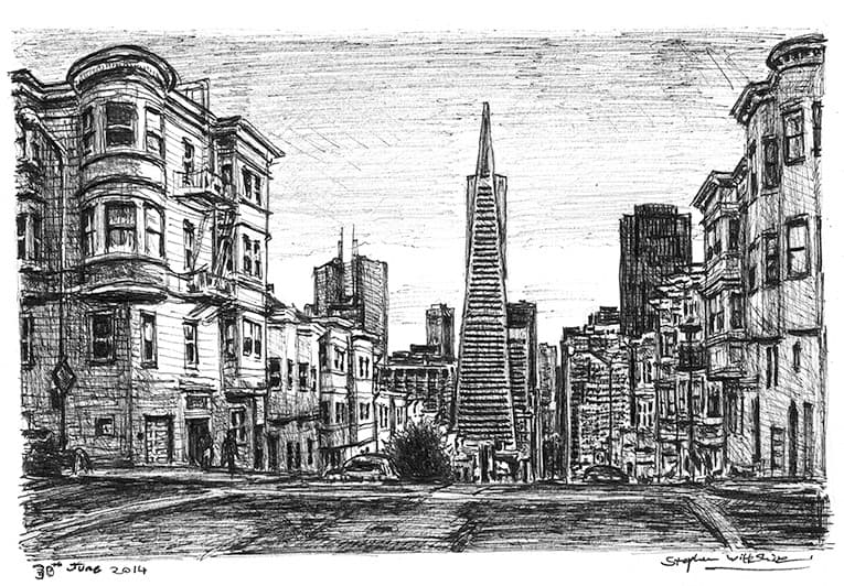 San Francisco street scene - originals and prints by Stephen Wiltshire MBE