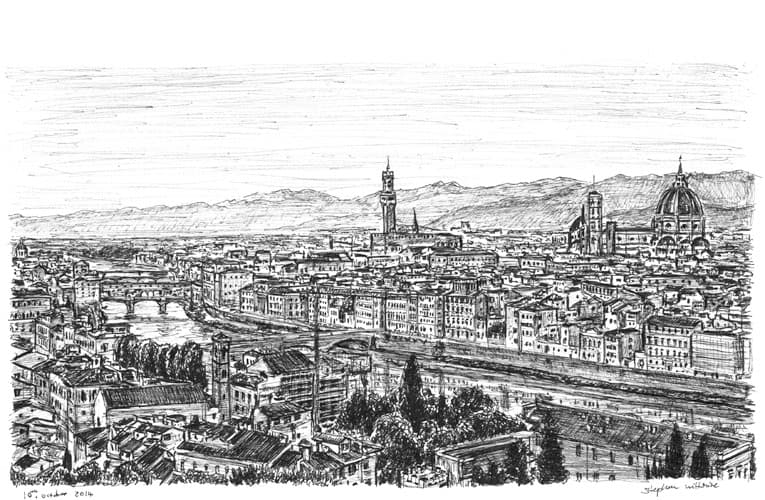 City of Florence - originals and prints by Stephen Wiltshire MBE