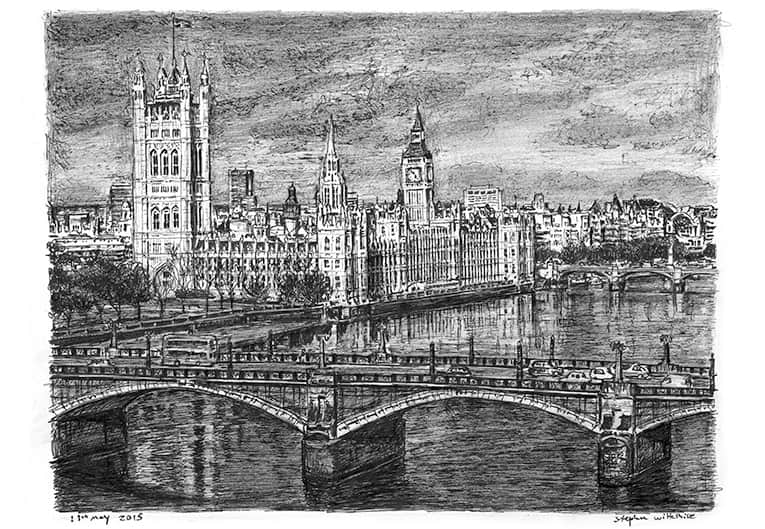 Houses of Parliament 2015 - originals and prints by Stephen Wiltshire MBE