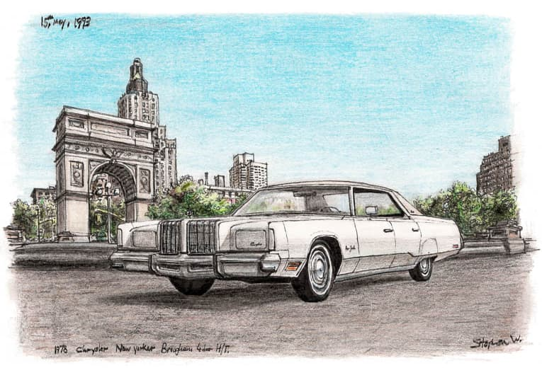 1978 Chrysler New Yorker Brougham Sedan Hard Top - originals and prints by Stephen Wiltshire MBE