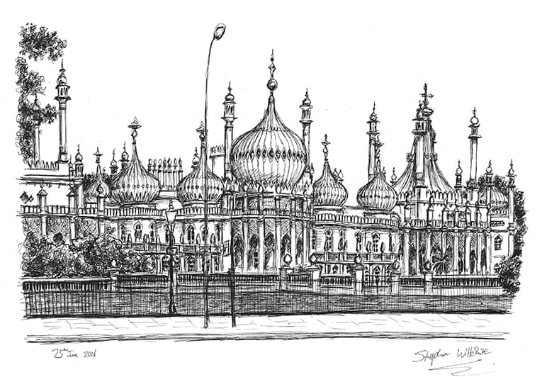 Brighton Pavilion - originals and prints by Stephen Wiltshire MBE