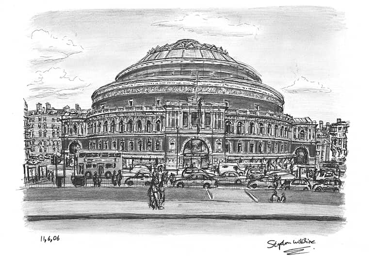 Royal Albert Hall 2006 - original drawings and prints by Stephen Wiltshire