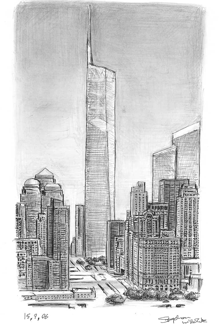 Freedom Tower - originals and prints by Stephen Wiltshire MBE