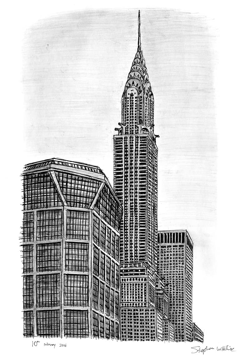 Chrysler Building with White mount (A3)