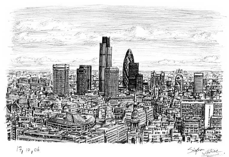 London City Skyline - originals and prints by Stephen Wiltshire MBE