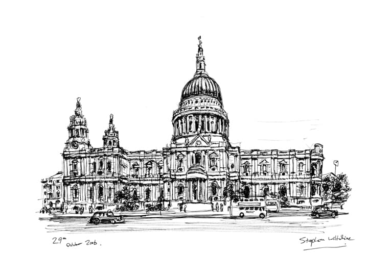 St Pauls Cathedral 2006 - original drawings and prints by Stephen Wiltshire